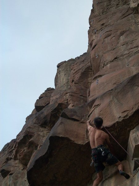 Hopper's Hangover, great roof sequence and a fun arete above.