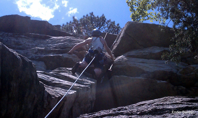 Rock Climbing Photo: I found this roof to be no joke.  And not to be mi...