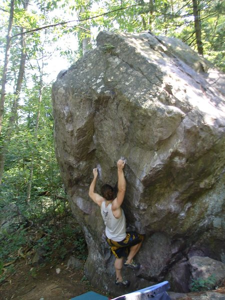 Rock Climbing Photo: Fuzzy locking in the knee-bar.