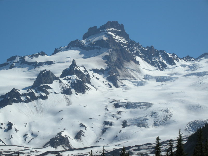 Rock Climbing Photo: Little Tahoma from the North side. Photo taken 7-9...