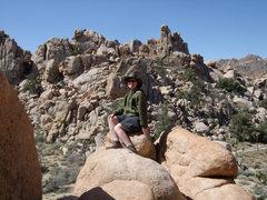 Rock Climbing Photo: Filino Wall, Joshua Tree in the background