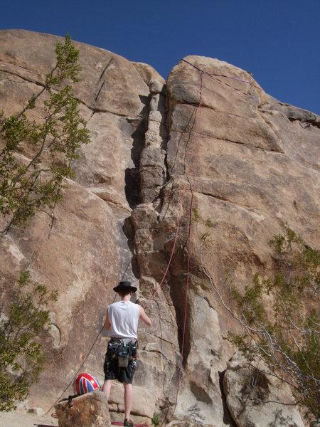 Rock Climbing Photo: Brimstone Stairway, 5.1, Morbid Mound, Joshua Tree