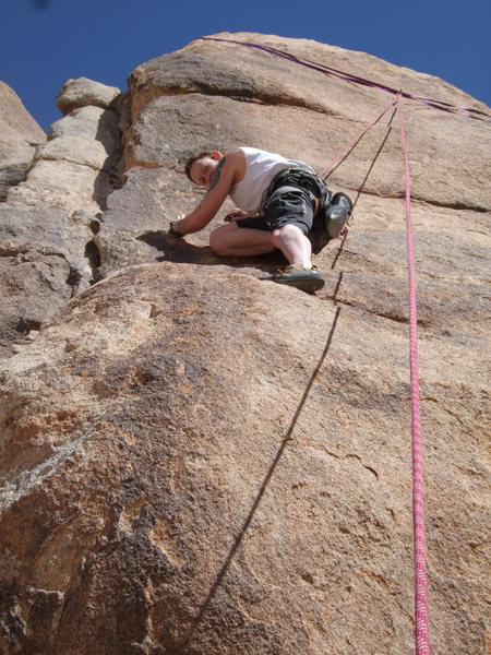 Rock Climbing Photo: Deadheads, 5.4, Morbid Mound, Joshua Tree