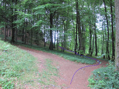 Rock Climbing Photo: The trail I prefer to get to the Kleine Hexen müs...