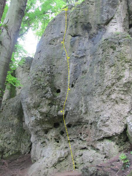 Rock Climbing Photo: Direkter Sanduhrweg