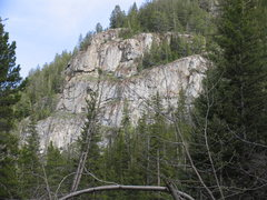 Rock Climbing Photo: 4 Stories as seen from Parking adjacent to South F...