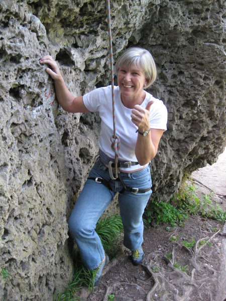 My mom after her first climb at 54 years old!