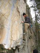 Rock Climbing Photo: Zach attempting Premonition
