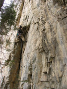 Rock Climbing Photo: Getting onto the Face of Premonition