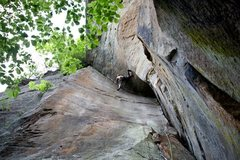 Rock Climbing Photo: Ryan Strong with the onsight.