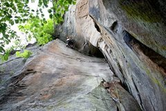 Rock Climbing Photo: Ryan Strong pulling the finals moves on Doppler Ef...