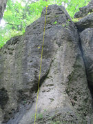 Rock Climbing Photo: The top of Solohex with anchor shown.