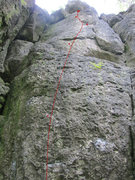 Rock Climbing Photo: The full route.