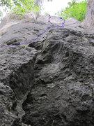 Rock Climbing Photo: Ostwand follows the blue line.