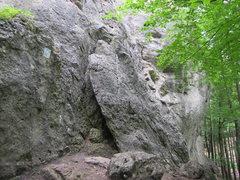 Rock Climbing Photo: The big block that gets mentioned in a few descrip...