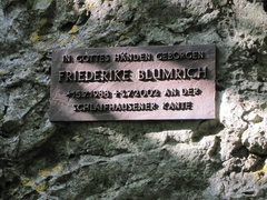 Rock Climbing Photo: The plaque just to the left of the beginning of th...