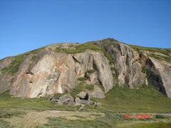 Rock Climbing Photo: More cliffs around Kangerlussuaq.