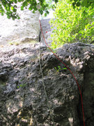 Rock Climbing Photo: The route clips relatively few pieces of protectio...