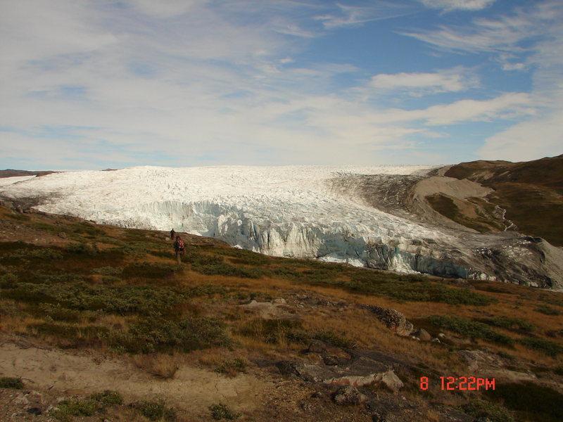 Rock Climbing Photo: Ice cap.