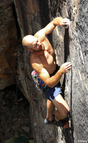 """Rock Climbing Photo: Moving out of the shadows to the """"Clean Face&..."""