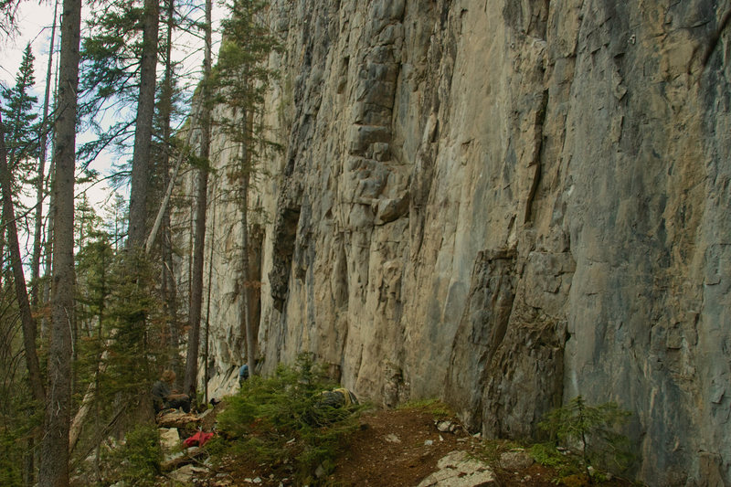 Rock Climbing Photo: Where the Trail meets the Blue Marble Wall