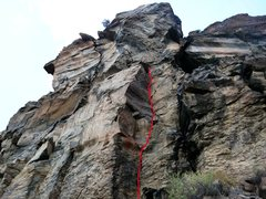 "Rock Climbing Photo: Beta photo showing ""Contributing to the Delin..."