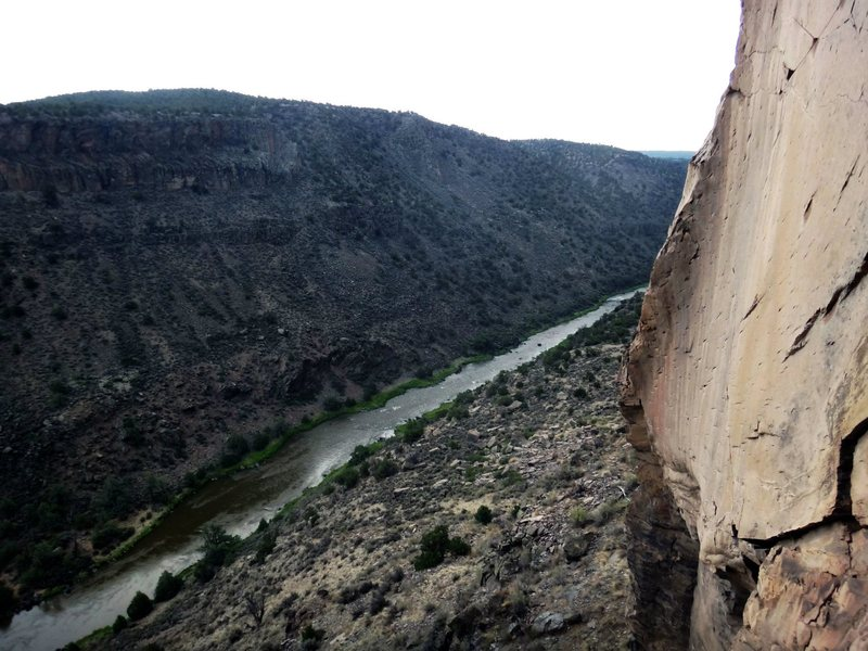 Rock Climbing Photo: Pic taken from the anchors at the top of Fools Gol...
