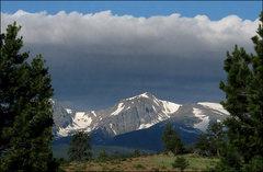 Rock Climbing Photo: Hallett Peak from town. Photo by Blitzo.