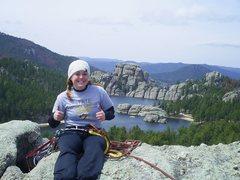 Rock Climbing Photo: My first multi-pitch climb :)