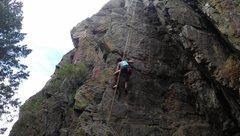 Rock Climbing Photo: My beautiful girlfriend top roping County Line