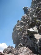 Rock Climbing Photo: Conditions on the Traverse.
