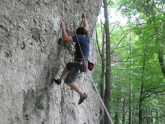 Rock Climbing Photo: Getting my feet back on.