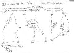 Rock Climbing Photo: #4 TOPO Blue Marble Wall right most quadrant