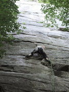 Rock Climbing Photo: Leading Middle Earth