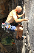 "Rock Climbing Photo: The ""Thin Stuff"" begins Black Magic Spel..."