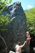 Rock Climbing Photo: Lily heading up the fun arete