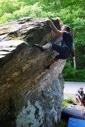 Rock Climbing Photo: Jeff on The Problem Mantel   2