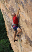 Rock Climbing Photo: Difficult undercling move- FA Raising Awareness (5...