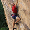 Difficult undercling move- FA Raising Awareness (5.12).
