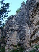 Rock Climbing Photo: Thumbellina is the route that goes up the arete to...