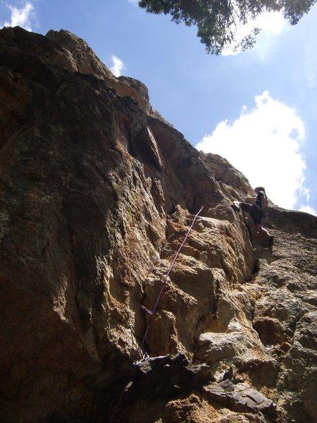 Rock Climbing Photo: Derek on his onsight
