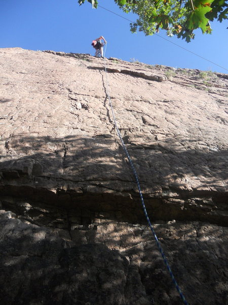 Rock Climbing Photo: A shot of the route from below.