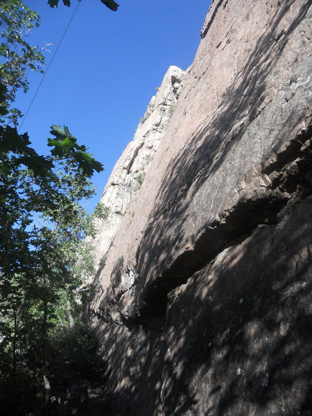 Rock Climbing Photo: An angled shot of Gas Hike from the Road Rage bela...