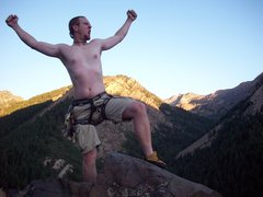 Rock Climbing Photo: On top of the world.