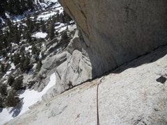 Rock Climbing Photo: view of first pitch belay