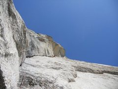 Rock Climbing Photo: Looking up at first pitch