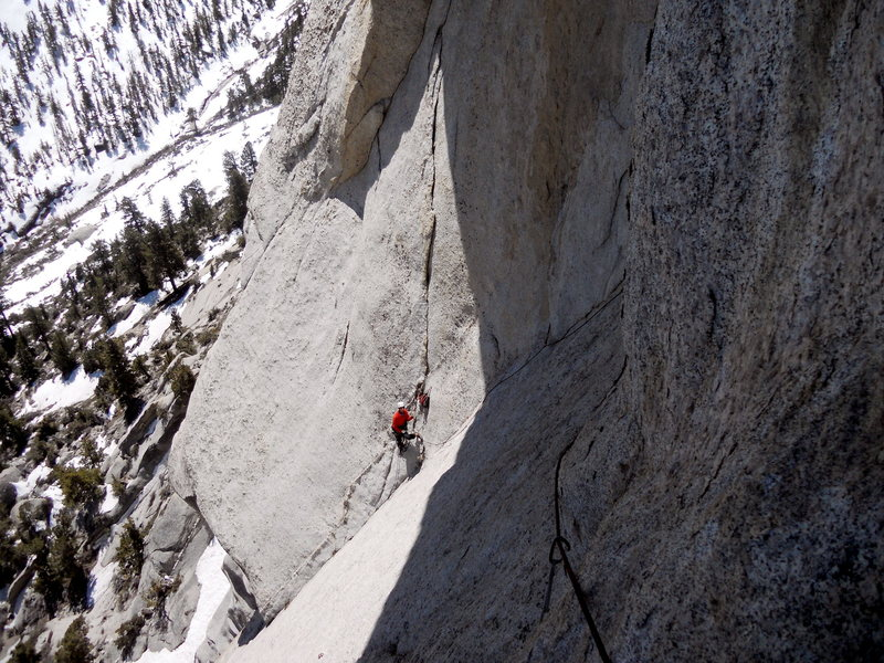 Rock Climbing Photo: View of the 2nd pitch belay.