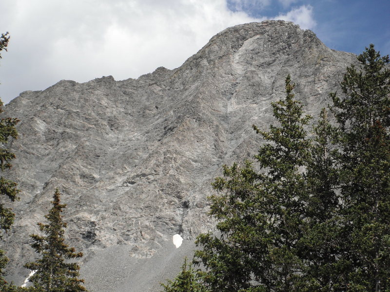 Rock Climbing Photo: NW Face of Little Bear from Lake Como.  Black Hand...