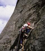 Rock Climbing Photo: Cameron Tague on P1