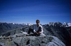 Rock Climbing Photo: Cameron Tague on summit